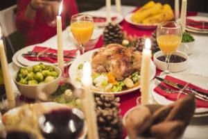 tavola di feste natalizie